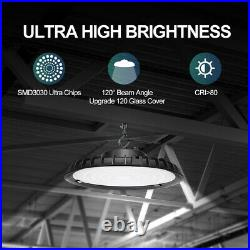 4Pack 200W UFO LED High Bay Light Shop Lighting Fixture Factory Warehouse 6000K