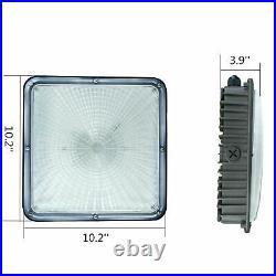 4Pack of 70W Petrol Station Waterproof IP65 4500 Lumen Outdoor LED Canopy Lights