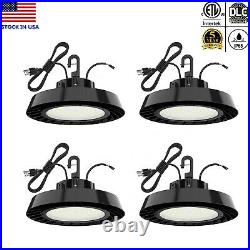 4Pcs 240W UFO LED High Bay Light Shop Work Warehouse Industrial Lighting DLC ETL