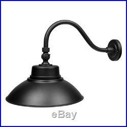 4X 14 LED Gooseneck Barn Light Fixture for Indoor/Outdoor Use, Photocell Sensor