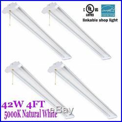 4X 4Ft 5000Lumens LED Bright Shop Light Home WorkLight Fixture Lighting 5000K B2