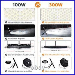 4X LED High Bay Light 100W Watt Warehouse Factory Shop Work Lamp Bulb Fixture