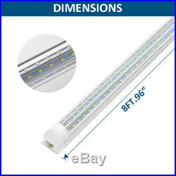 4-100PCS 120W LED Tube Light Fixtures T8 2FT 4FT 8FT 6000K Integrated Shop Light