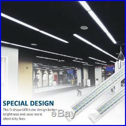 4-100PCS 30W120W LED Tube Light Fixtures T8 8FT 4FT 2FT D-Shaped Shop Lighting