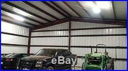 4 Foot LED Utility Shop Lights Garage Ceiling Fixture Low Bay 9000LM 5000K 80W