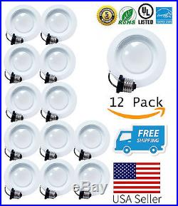 4 Inch Downlight LED 60/12/4/2 Pack Baffle 13W Recessed Retrofit Ceiling Light