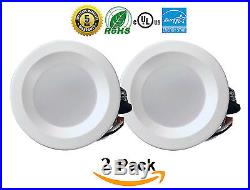 4 Inch LED Downlight 60/12/4/2 Pack 9W Smooth Recessed Retrofit Ceiling Light