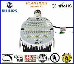 4 Lights 150W LED Retrofit Kit for Shoebox, Parking Street, Pole, Canopy Light
