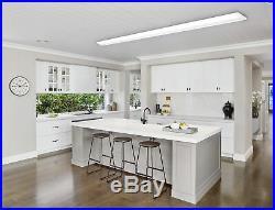 4 PACK 8FT Ultra Slim LED Office Wraparound Light 110W Shop Garage Flush Mount