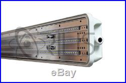 4-PACK Orilis 72W 4' Vapor Water Tight Surface LED Fixture 6500K Shop Light IP65