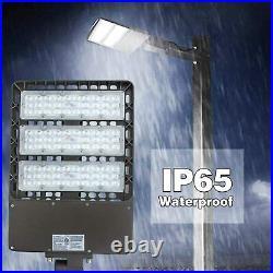 4-PCS 300W Shoebox LED Parking Lot Light 39000lm lumen Slip Fit Outdoor Lighting