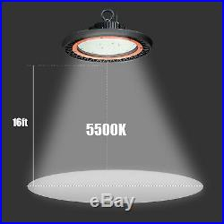 4 Pack 150W UFO LED High Bay Fixture Commercial Warehouse Workshop Light 5500K