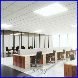 4 Pack 2x4 LED Flat Panel Light Fixture 75 Watt Drop Ceiling Shop Office Lights