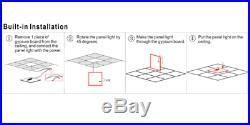4-Pack 4000K 2x4 50w LED Edge-Lit Flat Panel Drop Ceiling Light, 130lm/W DLC 4.2