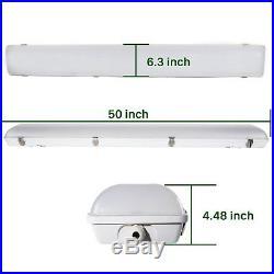 4 Pack of 4' LED Vapor Tight Light Weatherproof Fixture 40W 5000lm 5000K DLC 4.2