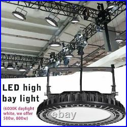 500W Watt UFO LED High Bay Light Super Bright Warehouse Shop Garage Lamp