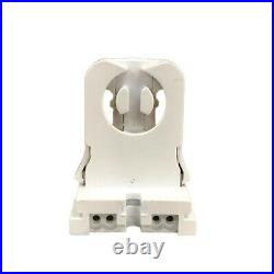 50 pcs T8 LED Non-Shunted Tombstone Lamp Holder Socket, Fluorescent Tube