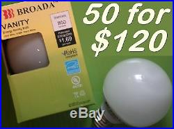 (50x) CFL Vanity Globe 14w Bulbs -kitchen bathroom chandelier recessed lighting