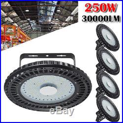 5X 250W UFO LED High Bay Light Gym Factory Warehouse Industrial Shed Lighting