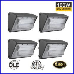 60W 80W 100W 120W Wall Pack Outdoor Area LED Light 5000K 120V277V DLC Listed