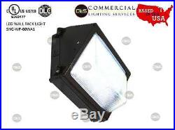 60 watt Phillips LED commercial wall pack. Glass lense. UL Approved 7000 lumens