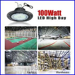 6Pack 100W High Bay LED Light Fixture Warehouse Gym Shop Factory Garage Workshop
