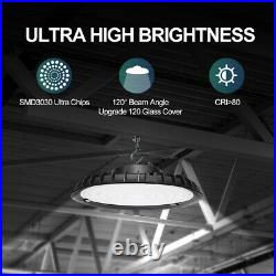 6Pack UFO Led High Bay Light 200W Industrial Warehouse Commercial Light Fixtures