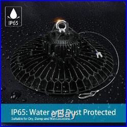 6Pcs UL DLC UFO LED High Bay 240W Replace 1000W Metal Halide Workshop Garage Gym