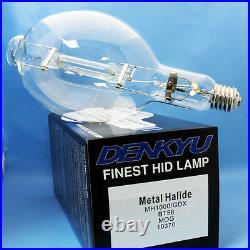 (6) MH1000/U/GDX/BT56 DENKYU 10370 MH1000W GREEN Metal Halide Bulb M47/E Bulb