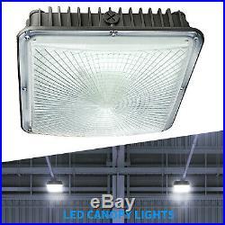 6 Pack 70w LED Gas Station Light Commercial High Bay Light Fixture 6900LM 5500K