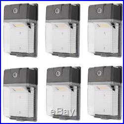 6 x LED Dusk to Dawn Sensor Wall Pack Light 5000K Daylight 2200lm 20W 100-277V