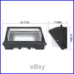 6pack 50W LED Wall Pack 5000K Daylight White 4500 Lumen Outdoor Lighting Fixture