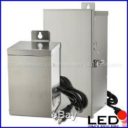 75300W Low Voltage Multi-Tap Stainless Steel Landscape Lighting Transformer ETL