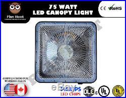 75 Watt High Bay Canopy LED Light Gas Station, Warehouse UL DLC 5 Year Warranty
