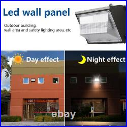 80W 100-277V LED Wall Pack Light with photocell Dusk to Dawn Outdoor 10400LM