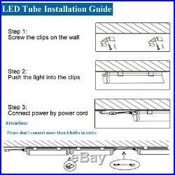 8PCS 8FT LED Tube Lights 72W Integrated T8 V Shape 7500LM 6500K LED Shop Light