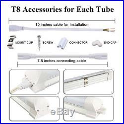 8Pcs LED Tube Light Bulb T8 4FT 8FT 6000K-6500K Bulb 22W 28W 72W Shop Light