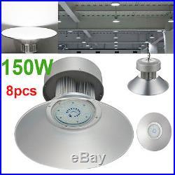 8X 150W Watt LED High Bay Light Lamp Warehouse Fixture Factory Shed Lighting