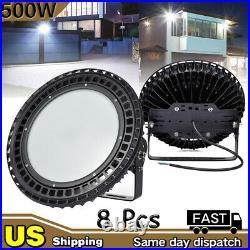 8X 500W Watt LED UFO High Bay Light Fixture Factory Warehouse Lighting US Stock