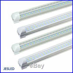8-50 Pack JESLED T8 Integrated 4-8FT LED Tube Light 22/72W V-Shape 7600LM 6000K