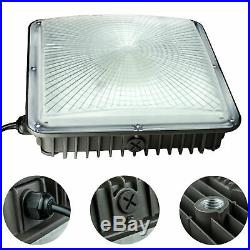 8 Pack 70W Square LED Canopy Lights 250-400W HPS/MH Replaces, 110V to 277V Input