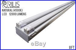 8ft Commercial LED Shop Light Fixture Garage, Warehouse, Storage Area 4500K