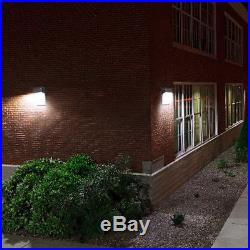 8pcs 20W 2200lm LED Wall Pack Light Dusk to Dawn Sensor 5000K Daylight Outdoor