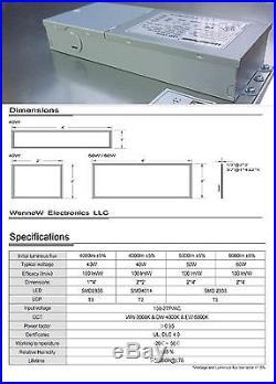 8pcs UL DLC 105lm/W 40W LED Drop Ceiling 2x2' 5000K Comercial Panel Light
