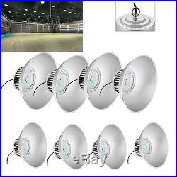 8x 100W LED High Bay Warehouse Light Bright White Fixture Factory Building Lamp