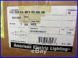 American Electric Lighting Roadway Parking Lot Overhead Light Lamp 250 Watts