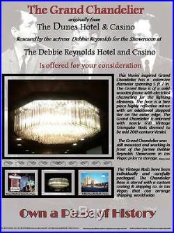 Antique Vintage Crystal Chandelier Las Vegas Dunes Casino/Debbie Reynolds Hotel