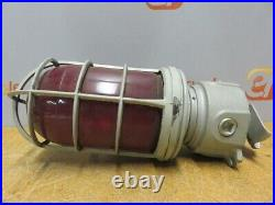 Appelton Explosion Proof Industrial Light Fixture Form 200 Red Bulb