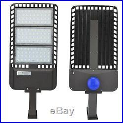 Arm Mount 300W LED Shoebox Light Street Light LED Parking Pole Lot Light 5500K