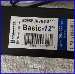 B295PUNVHE S Universal Ballast Operates 1 or 2 Bulbs F96T12/HO 120/277V 4-pcs